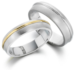 brushed gold wedding bands