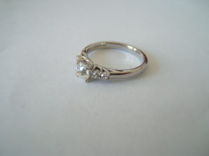 platinum CAD designed bespoke ring