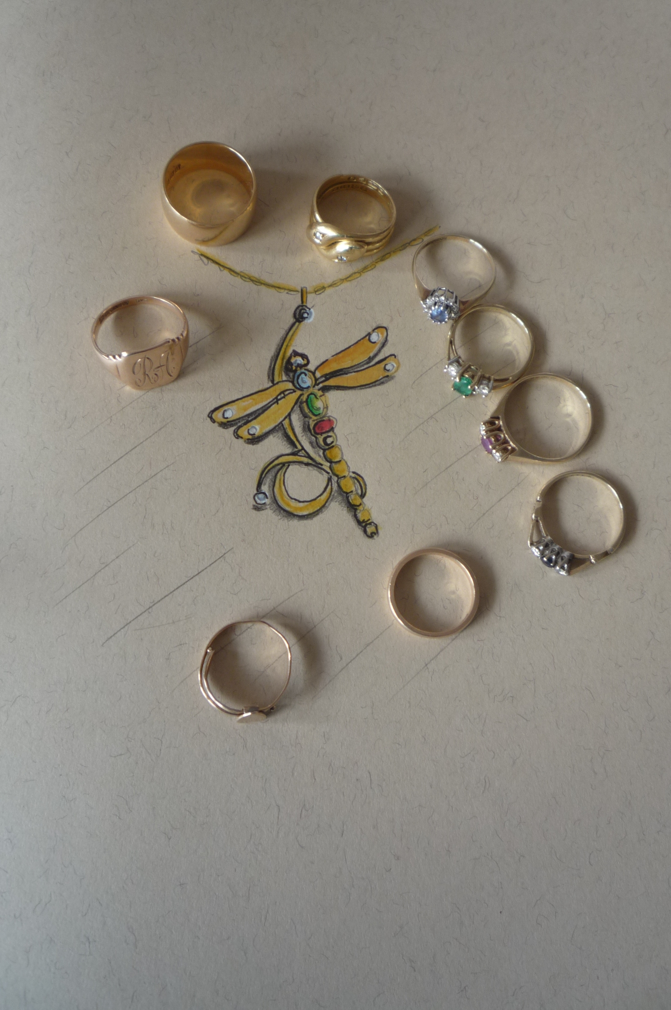 design and family gold collection