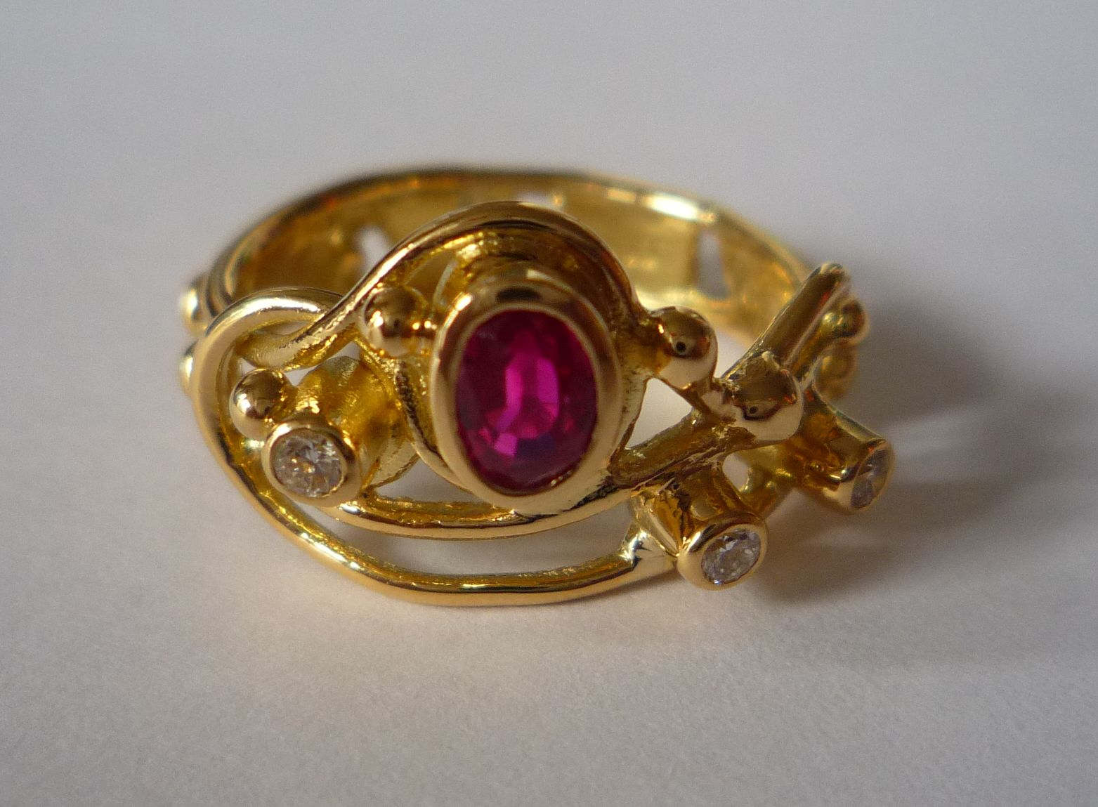 18ct gold incoming tide ring by helen burrell