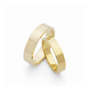 flat section wedding bands