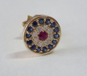 sapphire diamond and ruby gold stud stud
