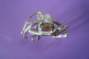 silver bangle created by helen burrell